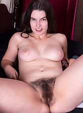 Ivy wakes up and makes her hairy pussy cum