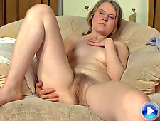 Gina Lin has hairy fun on the couch