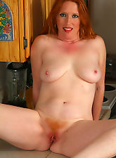 All natural redhead with a soft hot furry red pussy