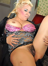 Chubby blonde needs a cock