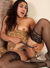 hairy armpits, Stockings and heels and hairy Leila, oh my