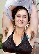 hairy, Hairy girl Valerie gets wet and wild