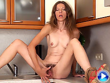 Aivyha fingers her hairy pussy in hirsute porn